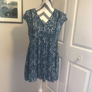 Anthropologie Vanessa Virginia Ladder Lace Tunic